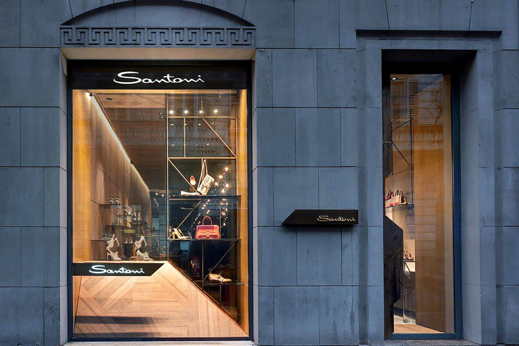 Santoni Showroom Milan Milano by Patricia Urquiola & SCE Project