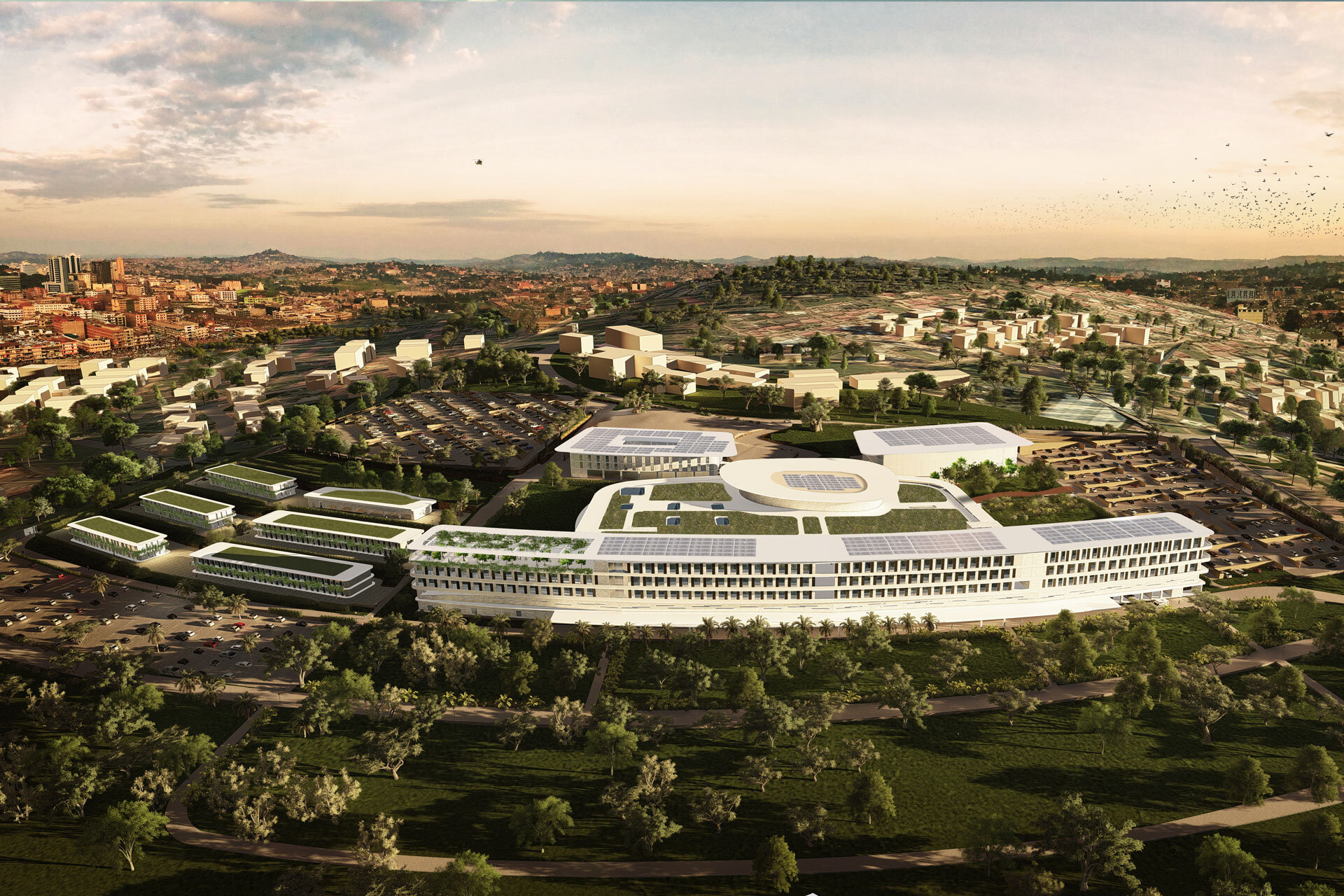 Ospedale internazionale di Kampala International Hospital Uganda by PCMR & SCE Project