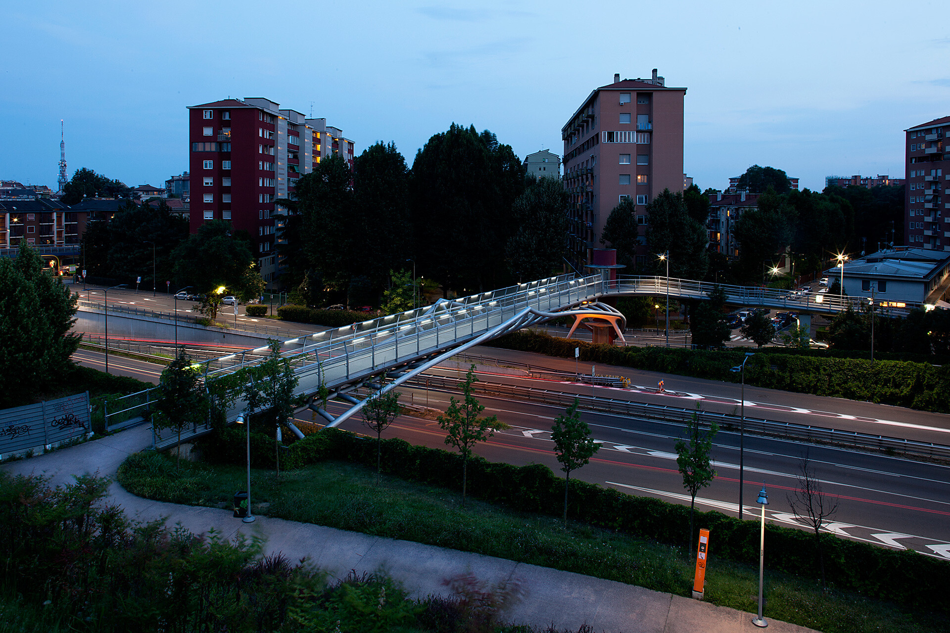 PEDESTRIAN BRIDGE VIA DE GASPERI - PORTELLO 7
