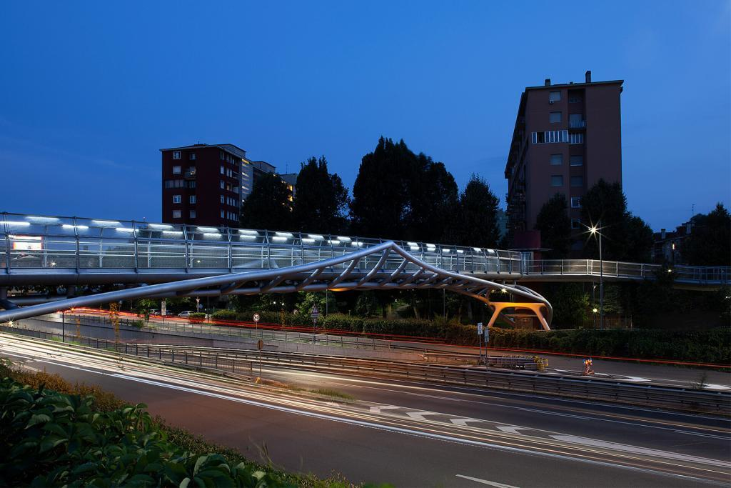 Footbridge Via De Gasperi Passerella pedonale Portello Milan Milano by Arup & SCE Project