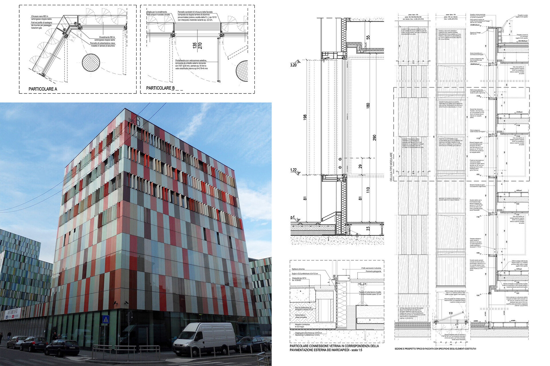 Facade design engineering by SCE Project Macciachini Dettagli