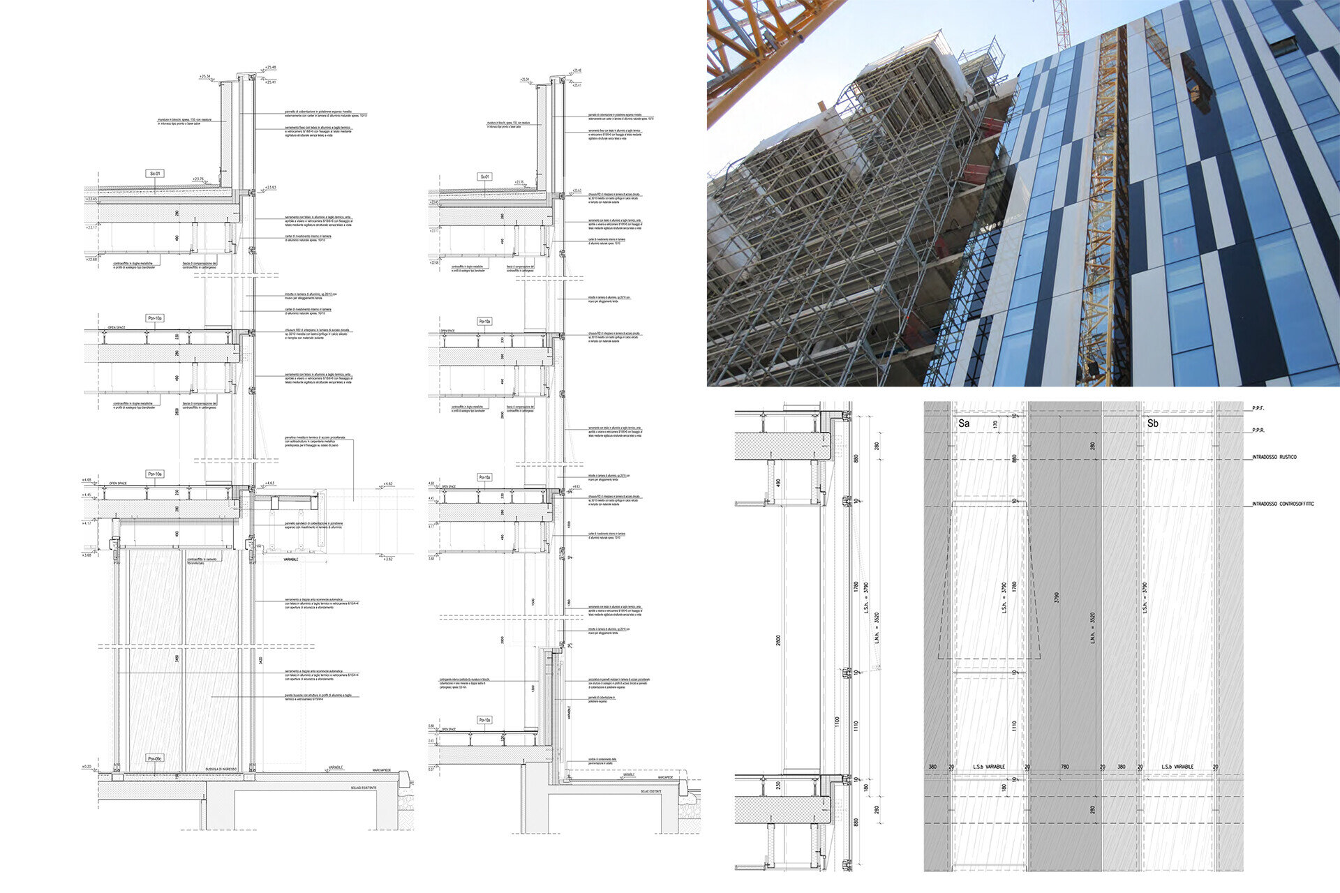 Facade design engineering by SCE Project RCS Dettagli