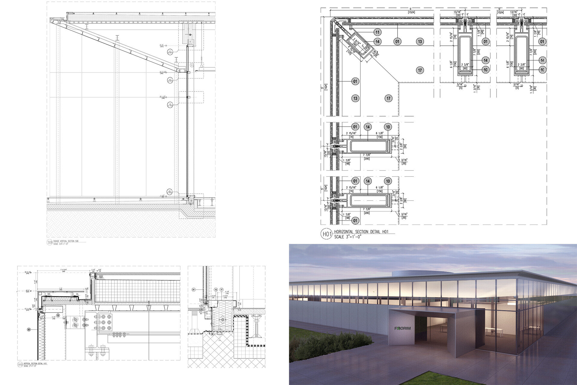 Facade design engineering by SCE Project FLORIM Dettagli