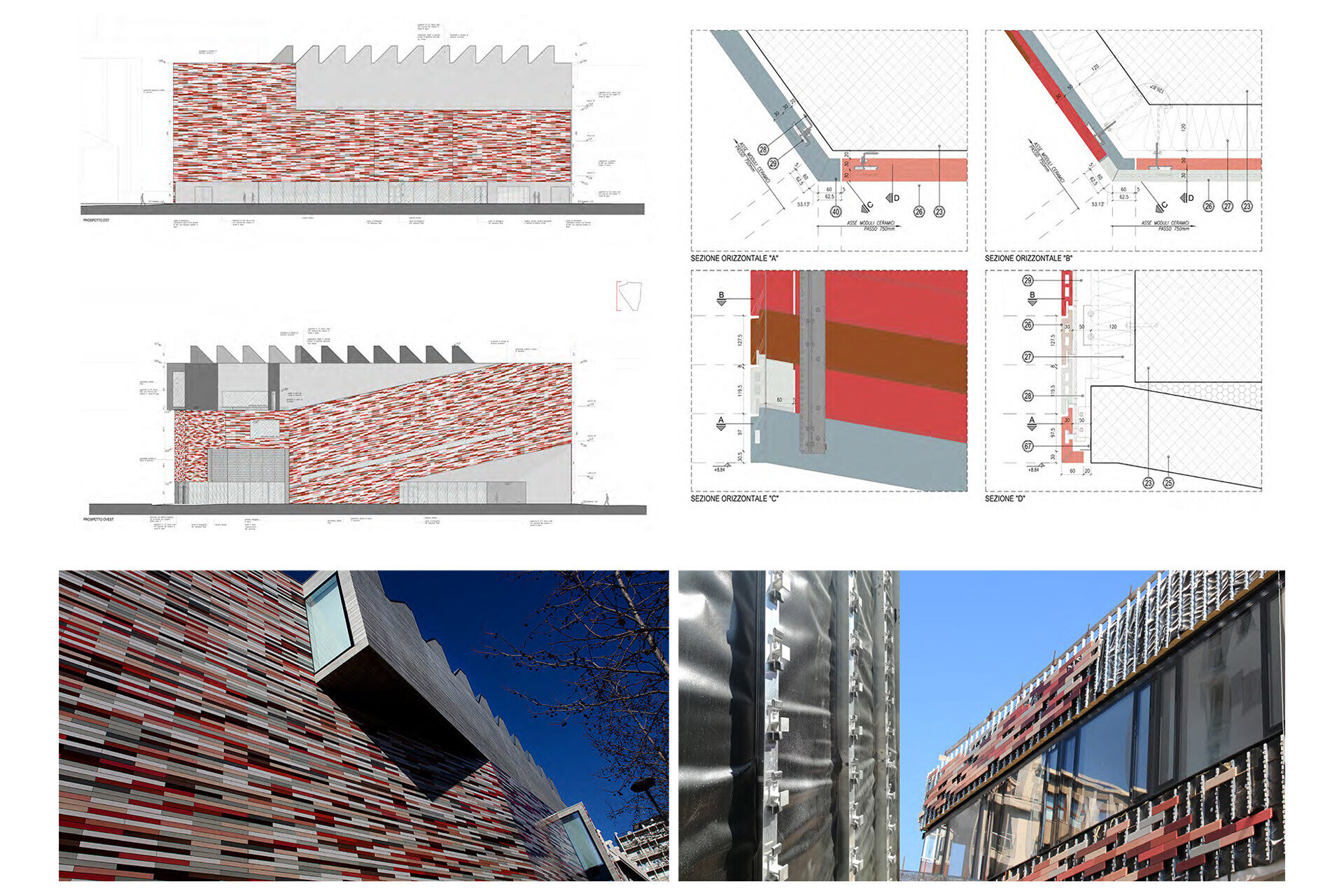 Facade design engineering by SCE Project M9 Dettagli
