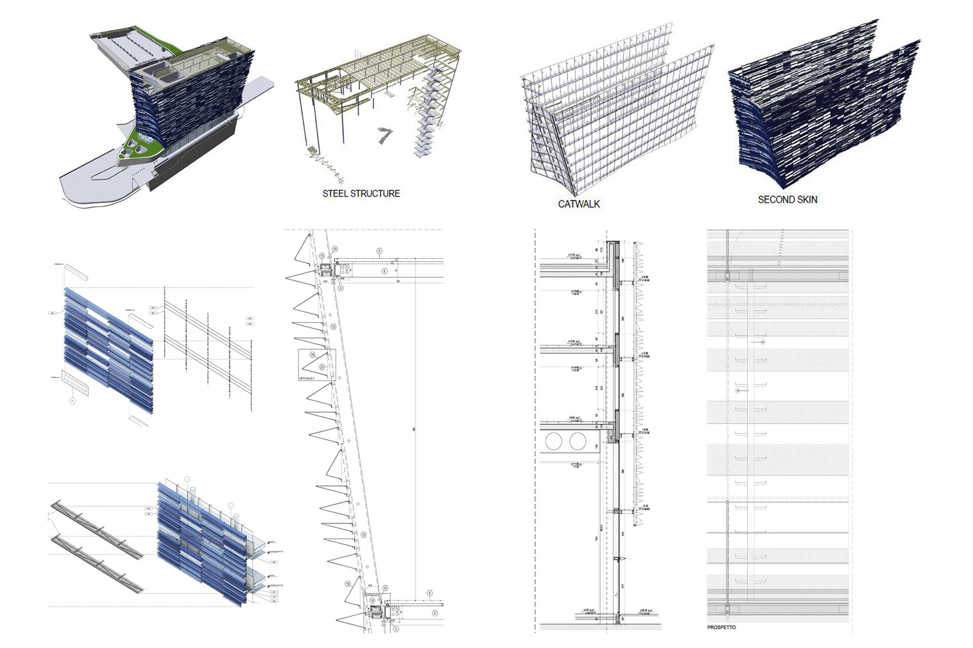 Facade design engineering by SCE Project SNAM Dettagli