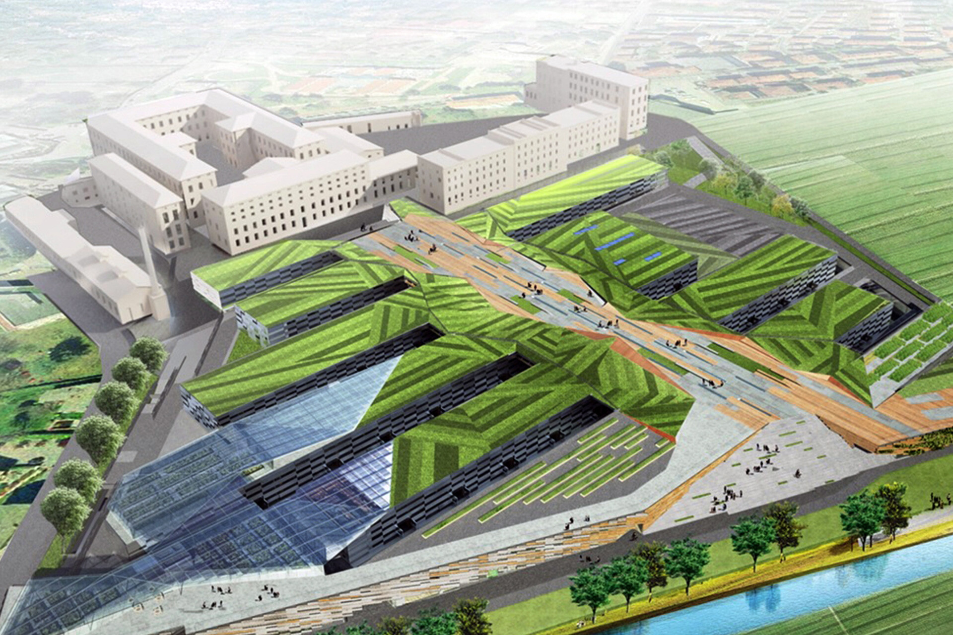 Progetto Manifattura Rovereto Green Innovation factory LEED Platinum by SCE Project