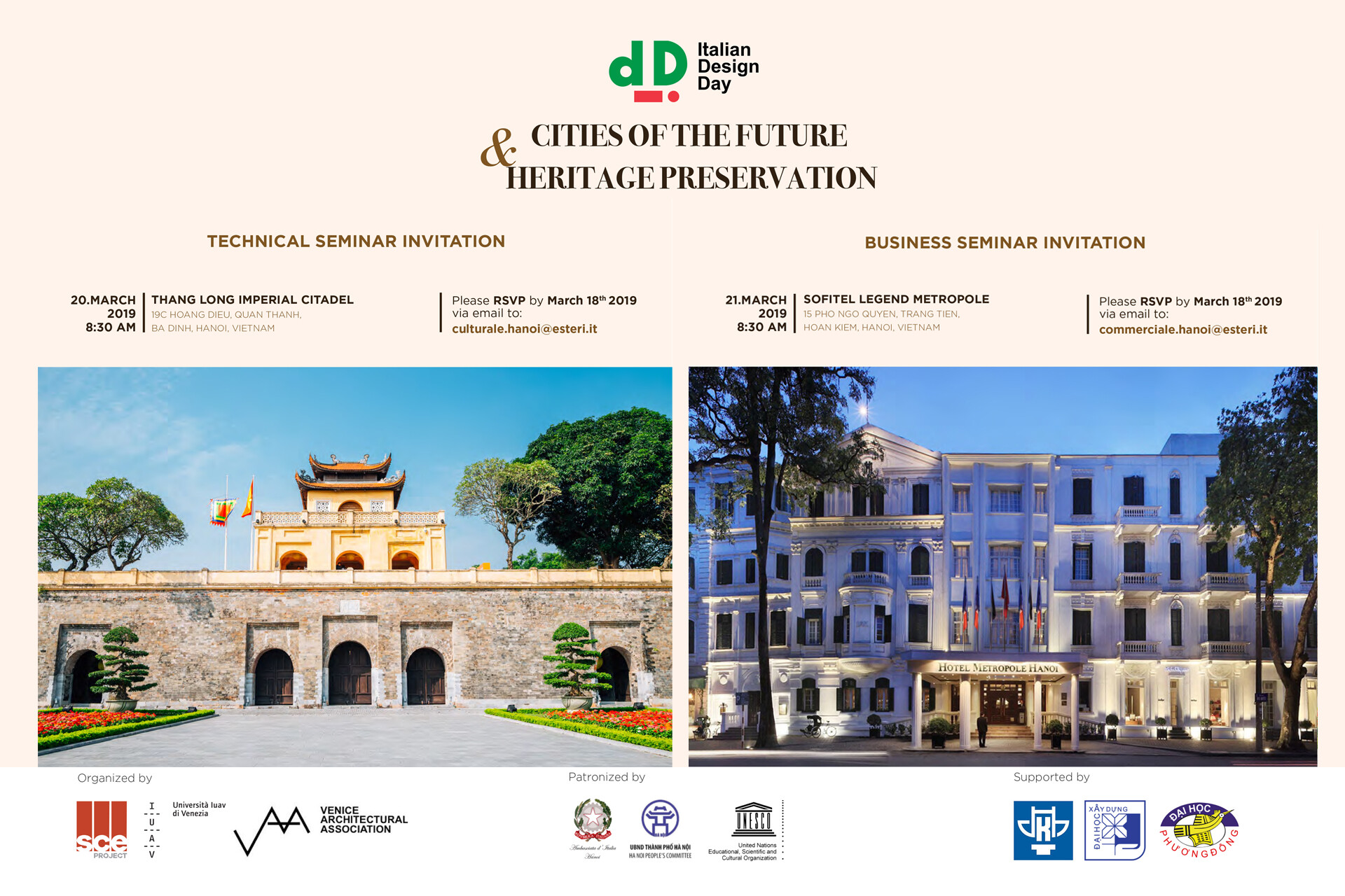 Restauro all'IDD Vietnam SCE Project ASIA