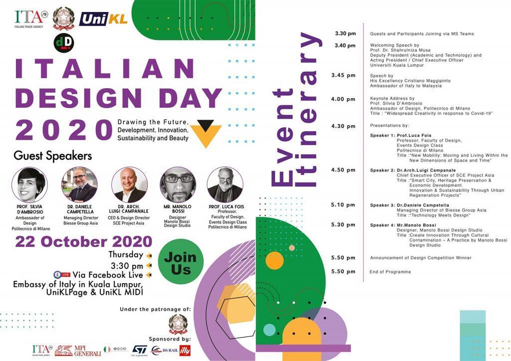 IDD Italian Design Day 2020 asia Kuala Lumpur